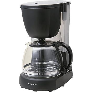 Lauson Cafetera a Goteo para 12 tazas de café, 1.25L de capacidad, Filtro de Nylon extraíble, Antigoteo y antideslizante, 870W, Negro: Amazon.es: Hogar