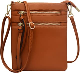 Crossbody Purses and Handbags for Women-Premium Small Faux Leather Crossover Bag Over the Shoulder Womens