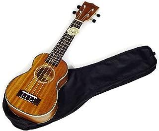 【Aiersi Guitar】 ウクレレ ソプラノサイズ オールマホガニー ハワイアンデザイン トップ単板 ソフトケース・クリーニングクロス付 AG-SU021T-MH