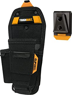 ToughBuilt - Pliers Tool Pouch - Medium | 3 Pockets & Loops, Tape Measure Clip, Screw Driver Pencil Holder, Tool Holster Accessories, Multi-Tool Organizer (ClipTech Hub & Belts) (TB-CT-35-M)