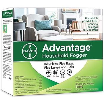 Advantage Flea and Tick Household Fogger, three 2 oz canisters