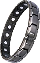 Elegant Titanium Magnetic Therapy Bracelet Pain Relief for Arthritis and Carpal Tunnel (Gunmetal Gray)