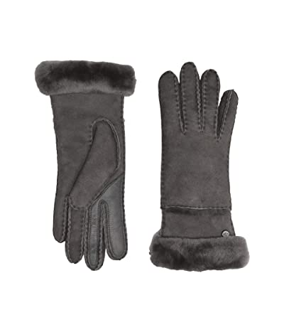 UGG Seamed Tech Water Resistant Sheepskin Gloves (Charcoal) Extreme Cold Weather Gloves