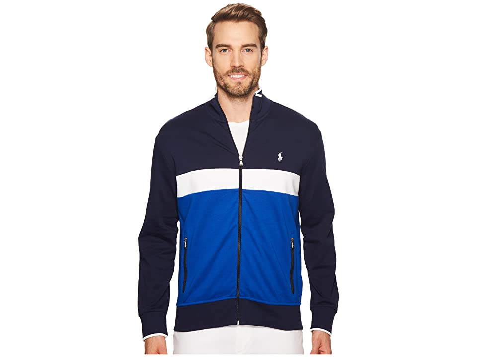 Polo Ralph Lauren Interlock Track Jacket (Cruise Navy Multi) Men