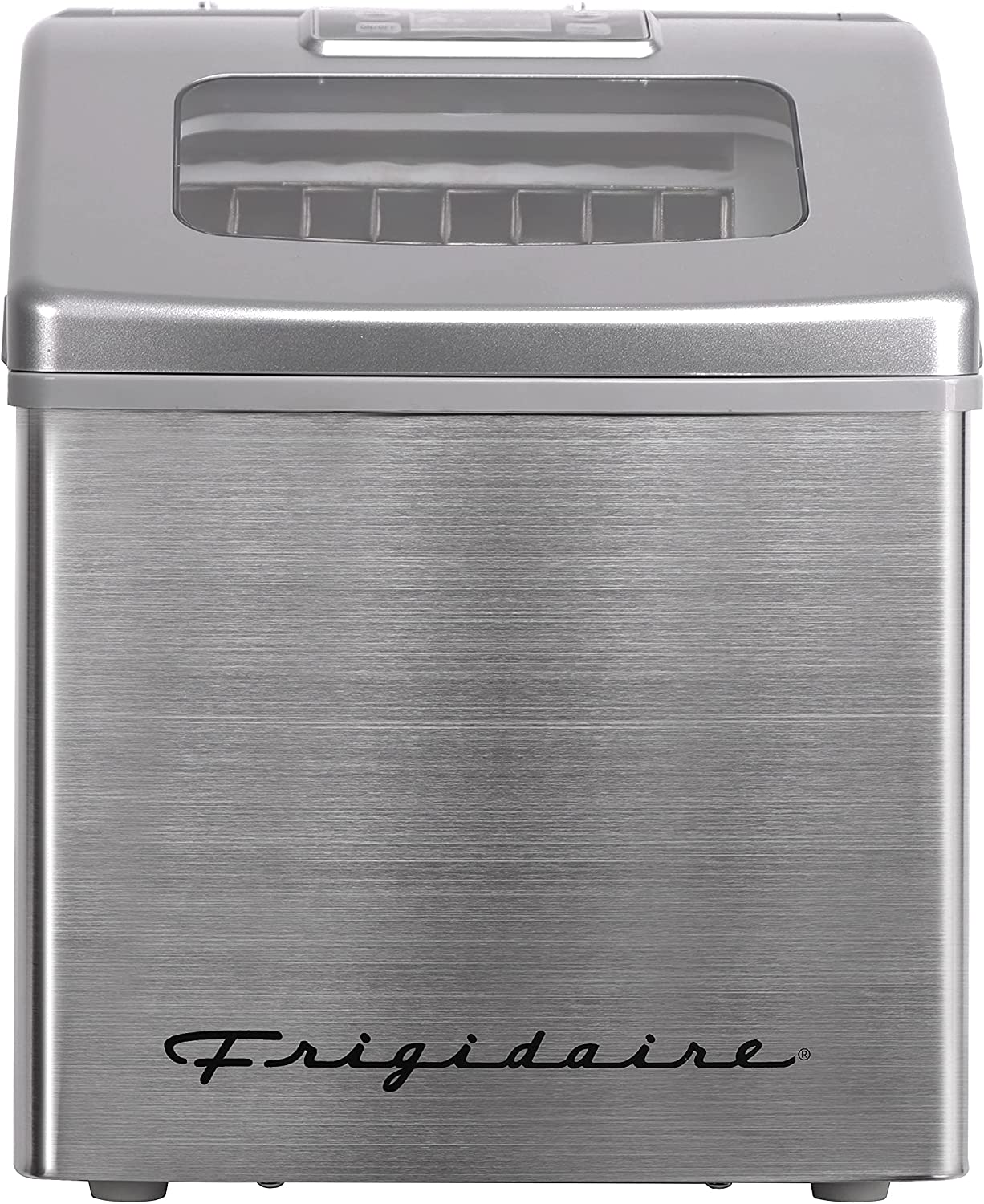 FRIGIDAIRE EFIC452-SS 40 Lbs Extra Large Clear Maker, Stainless Steel, Makes Square Ice