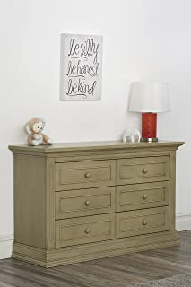 Suite Bebe Dakota 6 Drawer Double Dresser Driftwood
