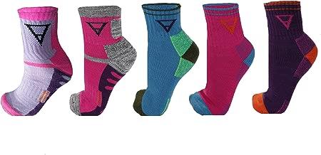 FITSHIT Athletic Hiking Socks 4 Pack - Mens & Womens Multi Performance Outdoor Wool Blend Sock