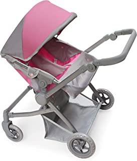 Badger Basket Voyage Twin Carriage Double Doll Stroller (fits American Girl Dolls)
