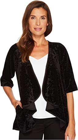 B Collection by Bobeau - Velvet Cardigan