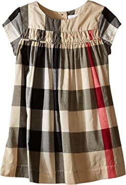 Burberry Kids - Check Dress w/ Ruched Panel (Infant/Toddler)