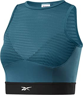 Reebok Women's Training Series Performance Crop Top, Heritage Teal
