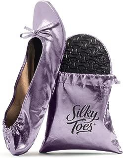 Women's Foldable Portable Travel Ballet Flat Roll Up Slipper Shoes
