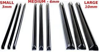 Newly Patented Premium SlideBinder tm Binding Bars. Staple, Slide, and Never Lose a Page! Medium Size for 10-35 Sheets of 20lb Paper (45 SPINES ONLY)