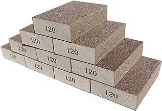 Sackorange 10 Pack 120 Grit Sanding Sponge, Washable and Reusable Sanding Blocks Great for Pot Brush Pan Brush Sponge Brus...