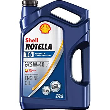 Rotella Shell Rotella T6 Full Synthetic 5W-40 Diesel Engine Oil (1-Gallon, Single Pack, New Packaging)