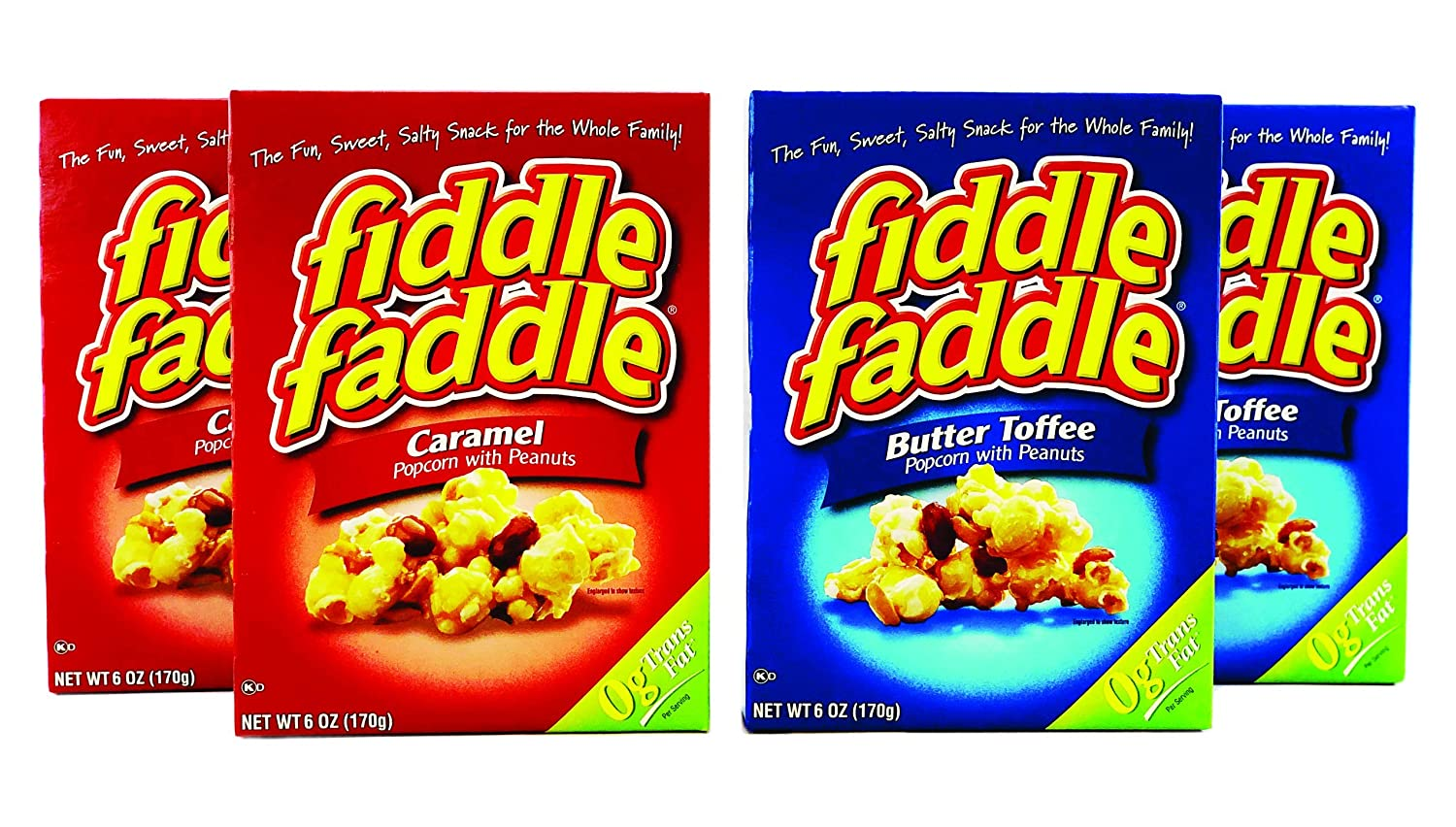 Fiddle Faddle Carmel Popcorn - The Two BEST In Flavors Inventory cleanup selling sale One All Max 48% OFF C