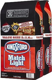 Kingsford 31267 Match Light Charcoal Briquettes, Two 11.6 Pounds