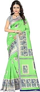 Jaanvi fashion Women's Mysore Art Silk SareeWith Unstitched Blouse