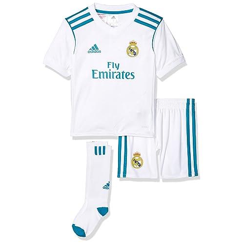Real Madrid 17 18 Mini Kids Home Replica Football Kit - White f91546a48