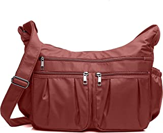 Crossbody Bags for Women Multi Pocket Shoulder Bag Waterproof Nylon Travel Purses and Handbags Lightweight Work Bag