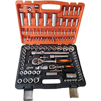 Maletín de Herramientas 108 piezas con llaves de vaso CARRACAS destornillador: Amazon.es: Bricolaje y herramientas