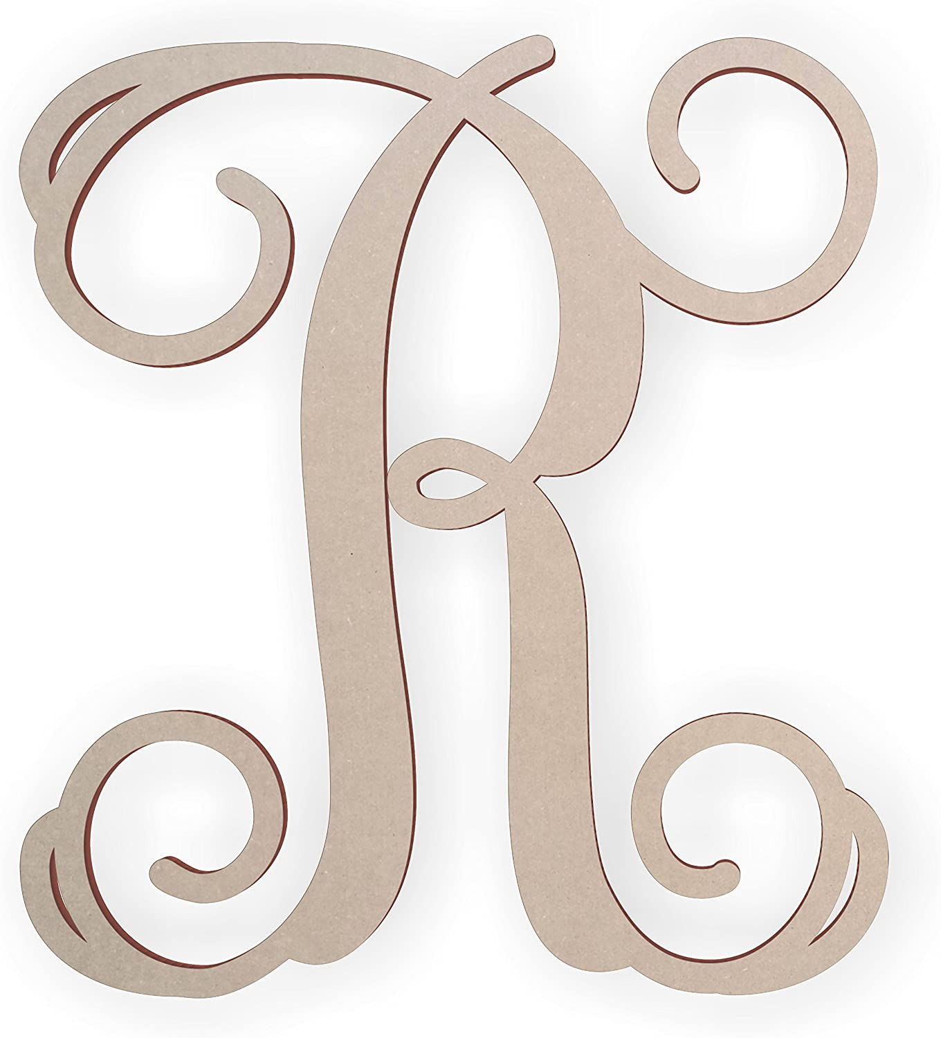 Recommendation Wooden Monogram Letter R Sacramento Mall Unfinished to Paint Ready and