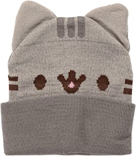 Pusheen Isaac Morris Smiling with Ears Adult Beanie Hat