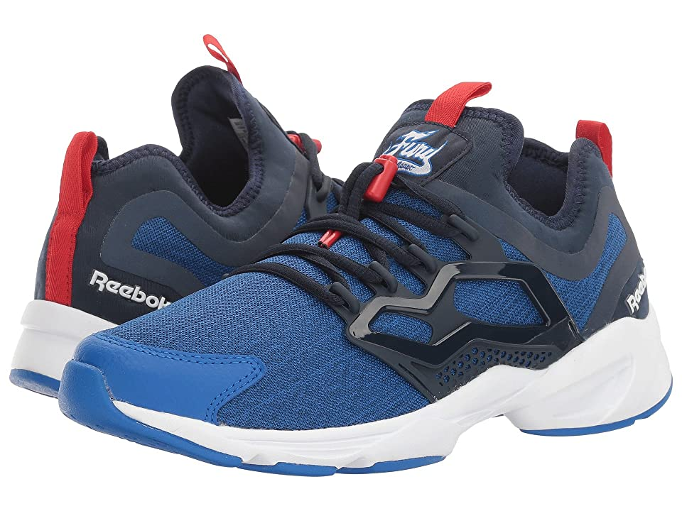 Reebok Lifestyle Fury Adapt UC (Awesome Blue/Collegiate Navy/White/Primal Red) Men