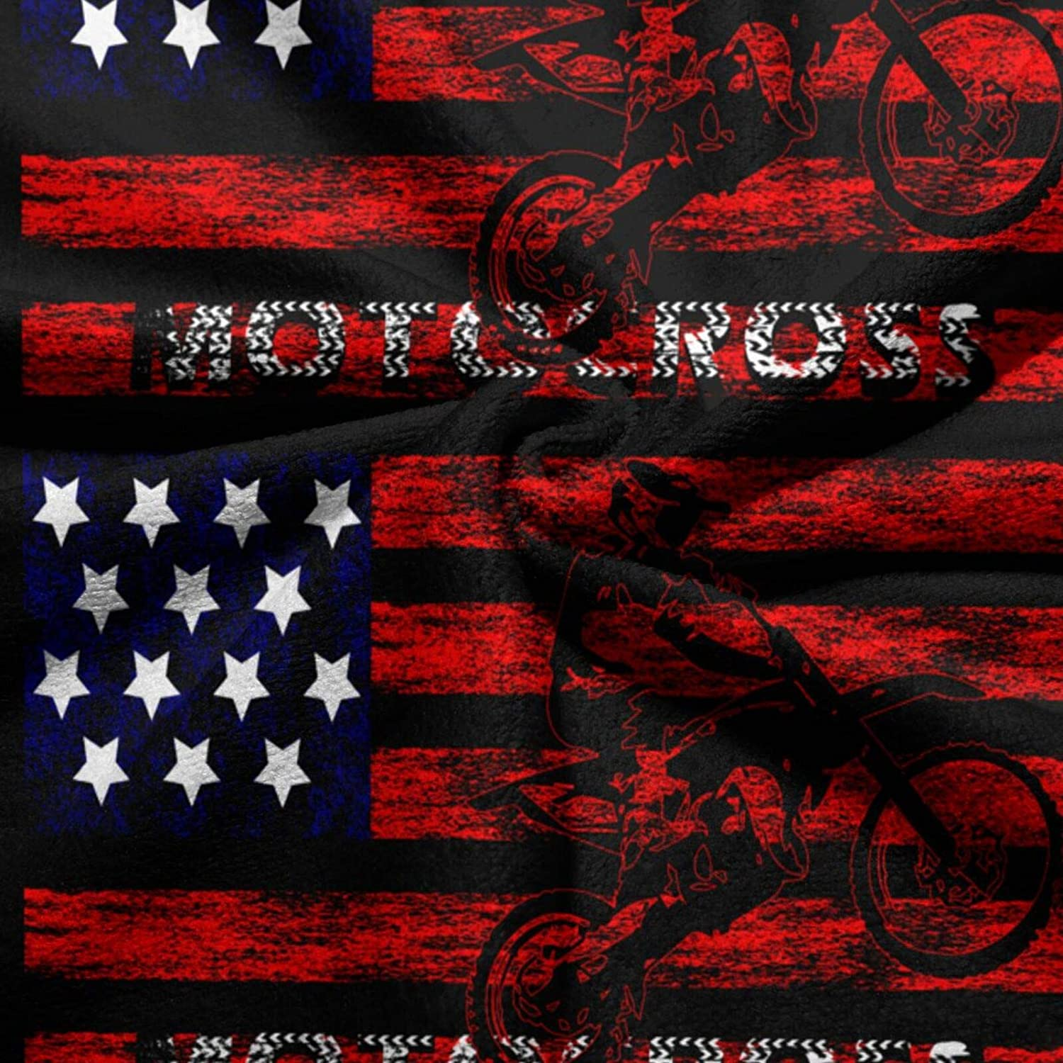 Boys Girls and Adults American Flag with Motocross Superfine Fiber Hand Towels Ultra Soft Beach Towel Pool Bath Towel for Kids