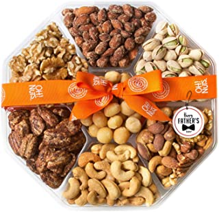 Oh! Nuts Christmas, Gourmet Nut Gift Baskets, Large 7 Variety Holiday Freshly Roasted Party Tray, Mothers, Father's & vale...