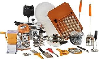 Anjali Aluminum Complete Kitchen Set with Popular Pressure Cooker, Silver, 4 Liters, AJ-PR-B-18-4L, 18 Pieces