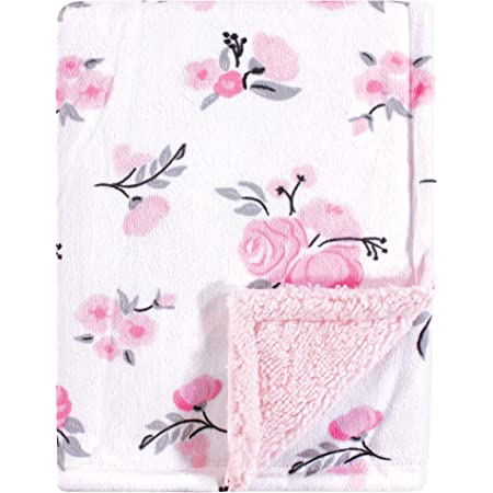 Soft Blankets for Newborns and Toddlers Plush Mink Double Layer Fleece Fabric Best for Baby Girls Minky Baby Blanket 30 x 40 inch Petal