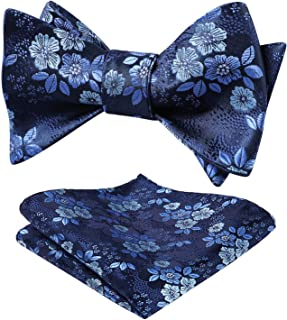 Floral Bow Tie Handkerchief Men's Self Tie Bow Tie & Pocket Square Set