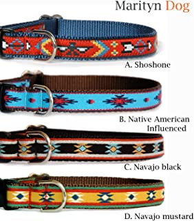 Ribbon Dog Collar : Navajo, Southwestern & Native American influenced Designer Dog Collar for Puppies, Small Dogs to Large Dogs. Made in The U.S.A.