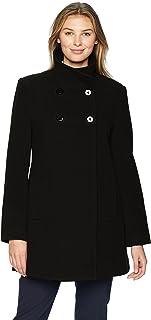 Larry Levine Womens 08719-L8 Women's Double Breasted Plush Wool Coat Wool Blend Coat