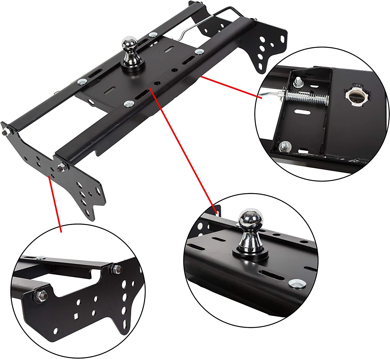 ECOTRIC Gooseneck Trailer Seattle Mall Hitch System Kit Safety and trust Complete Underbed Com