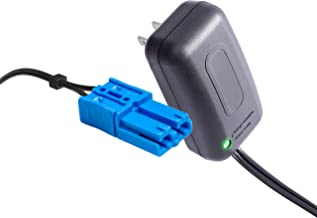 12 Volt Kid Trax Battery Charger with Grid Connector, for 12V Child Ride On Car Dodge Ram 3500 Beetle Mini Rideammales Scout Disney Mickey Minnie or Mouse Coupe and More