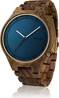 Wooden Watch for Men - 100% Natural Rose Wood Case - Water Resistant - Eco-Friendly - Unique Watches for Men and Women