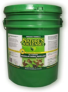 Bird-X Nature's Defense All-Purpose Animal Repellent and Pest, 50 lbs Capacity, Covers 125,000 square feet or 25,000 linear feet