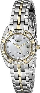 Watches Women's EW1594-55D Eco Drive Two-Tone Watch