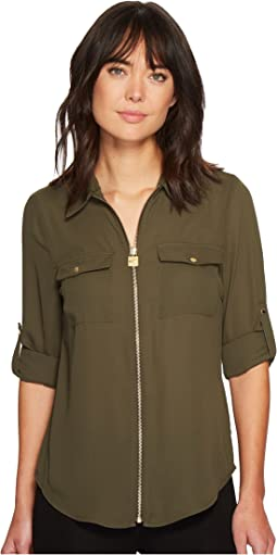 MICHAEL Michael Kors - Solid Lock Zip Top