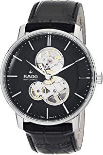 Coupole Classic Swiss Automatic Watch with Stainless Steel Strap, Black, 21 (Model: R22894155)