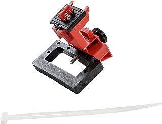 Brady Taglock Circuit Breaker Lockout Device - 480/600 Volt Clamp-On Oversized Breaker Lockout Device, No Lock Needed - Red - 148692