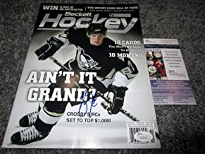 Sidney Crosby Pittsburgh Penguins Canada Autographed Signed Beckett Magazine JSA COA - Authentic Memorabilia