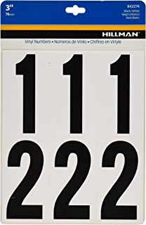 The Hillman Group 842274 3-Inch Numbers Kit, White/Black