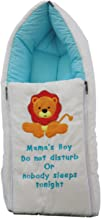 Amardeep and Co Baby Cotton Sleeping Cum Carry Bag (0-3 Months, Blue And White)