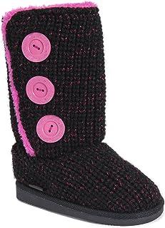 حذاء برقبة للفتيات من MUK LUKS MUK LUKS® - حذاء أنيق للفتيات أسود/وردي