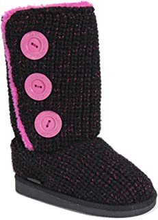 Kids Girl's Malena Boots-Black/Pink Fashion