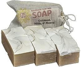 Goat Milk Soap - OATMEAL, MILK & HONEY. All-Natural, Handmade by Goat Milk Stuff. Bars 5 oz. each, 4 Count