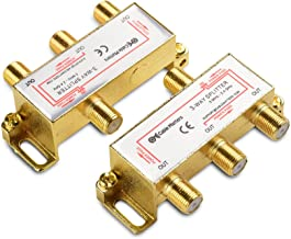 Cable Matters 2-Pack Bi-Directional 2.4 Ghz 3 Way Coaxial Cable Splitter for STB TV,..